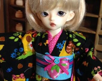 Alice and Strawberries Kimono and obi for 1/6th 26cm YOSD BJD