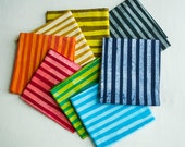 Two Stripe Hand Dyed and Patterned Fat Quarter Bundles