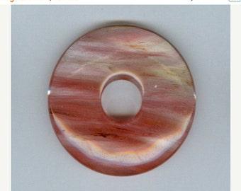 SALE 45mm Cherry Quartz Donut Pendant Bead 7117