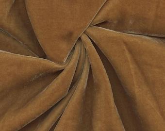Beautiful Silk Velvet Fabric Saffron
