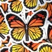 Butterfly Zipper Waterproof Die Cut Colorful Monarch Wings Vinyl Sticker - Etsy