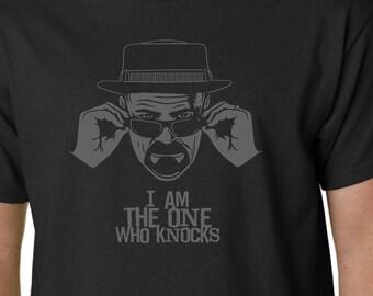 BREAKING BAD I AmThe One Who Knocks t-shirt // Walter White Heisenberg Walt Better Call Saul Pinkman Hank Schrader Fring Ehrmantraut