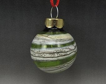 Handmade Lampwork Glass Blown Hollow Ornament by Jason Powers SRA