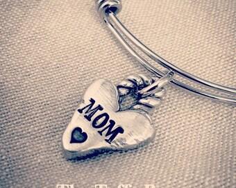 Brave Heart Pewter Charm Bracelet