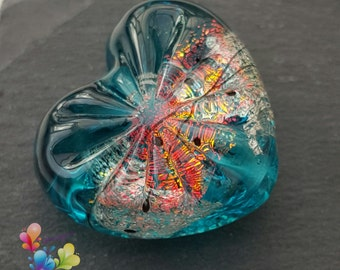 Lampwork Bead Sea Beacon Starburst Heart