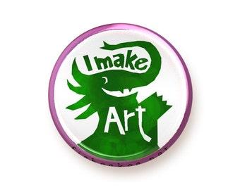 I Make Art - button