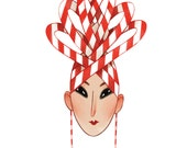 Christmas Hat Card: Candy Cane