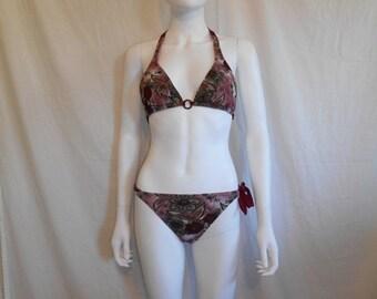 90's bathing suit swim suit bikini two piece floral