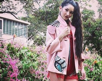 Artisan Pale Pink 50's 60's Swing Coat Jacket Fabulous!