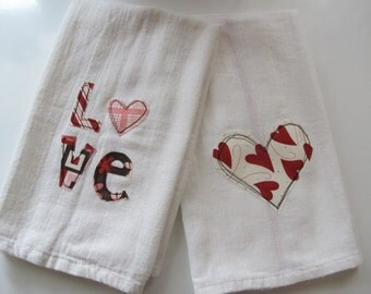 MOVING SALE! Love Kitchen Towels set of 2