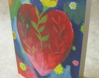 5 x 7 Notecard - A033 GENE'S HEART // love card / wedding card / engagement card / anniversary card / Valentine's Day card / friendship card