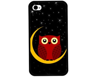 Phone Case - Night Owl - Hard Case for iPhone 4, 4s, 5, 5s, 5c, SE, 6, 6 Plus, 7, 7 Plus - iPod Touch 4, 5/6 - Galaxy
