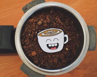 Coffee- soft enamel pin