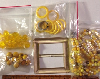 orange and yellow jewelry lot