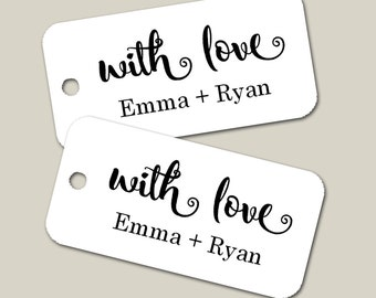 Personalized Mini Tags Wedding Tags, Personalized Tags, Custom Wedding Tags, Gift Tags, Personalized, Custom Tags - Set of 25