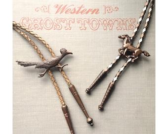 Vintage Roadrunner Bolo Tie - Vintage Copper Horse Bolo Tie