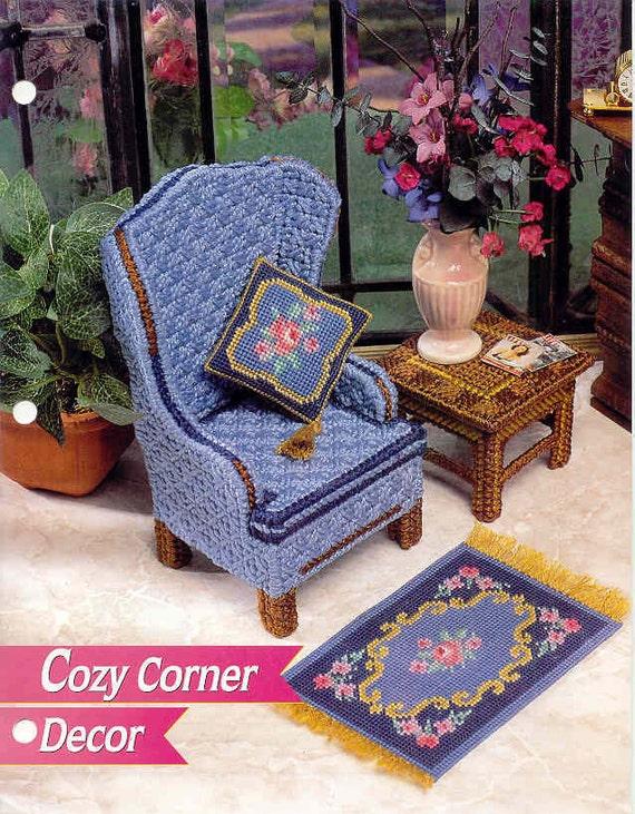 Fashion Doll Cozy Corner Decor Plastic Canvas Pattern