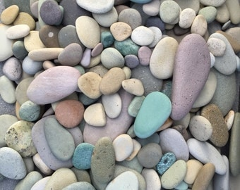 Colorful River rocks from ALASKA - pastel stones - garden decor - colorful river rocks - natural beach stones