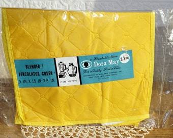 vintage mid century Dora May appliance cover quilted  percolator  blender cover