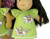 15 inch Waldorf doll dress, princess unicorn doll dress and optional white bloomers, 14 inch doll clothes