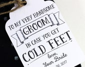 Cold Feet Tag - Groom Tag - Wedding Tag