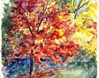 Autumn Color  - Watercolor painting