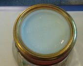 vintage NOS white crown mason jar lid insert original band porcelain milkglass milk glass embossed patent date fruit canning regular mouth