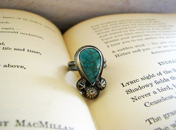 Ragged Woods- Turquoise Ring Size 6
