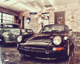 The 2shores Classic Car Showroom -  Automotive Art -  Home Decor