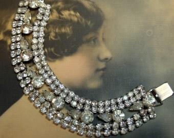 Vintage Bracelet Rhinestone Jewelry