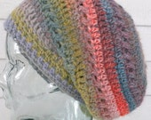 Warm Multicolor Striped Winter Slouchy Beanie Hat