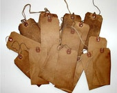 25 Large & 25 Small Grungy Vintage Primitive Hang Tags For Scrapbooking Gifts