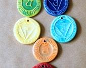 1 Handmade Ceramic Bead - Your choice of 1 Chakra Pendant bead