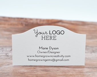 70 - Business Cards Curved Top - Customized with your Logo and Text | DS0124