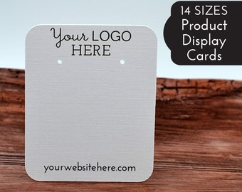 14 SIZES   Custom Earring Display Cards with Your Logo