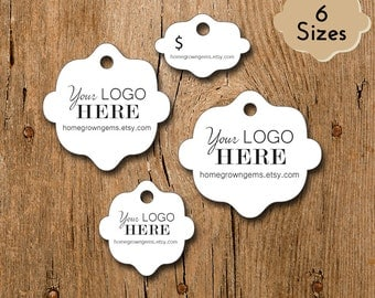 Customized Small Price Tags Jewelry Hang Tags Labels - Unique Shape - Personalized Gift Tag Wedding Tag Thank You Tags | DS0107
