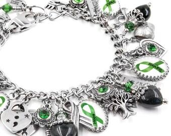 Mental Health Awareness Charm Bracelet, Mental Health Jewelry, Mental Health Bracelet, Semicolon, I am enough, Mental Illness Bracelet
