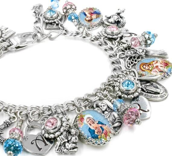 Christian Charm Bracelets: Charm Bracelet Faith Jewelry Catholic Jewelry Christian
