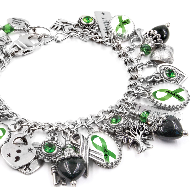 mental health awareness charm bracelet mental health jewelry