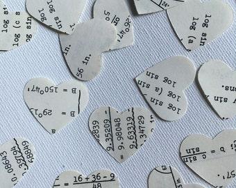Vintage Math Confetti wedding party decor