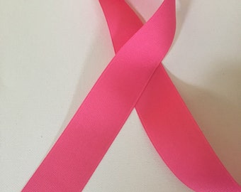 "Hot pink grosgrain ribbon 1 1/8"" 5 yds"