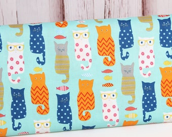 Riley Blake Novelty Fabric 2016, Cats, Quilting Fabric , 1 yard