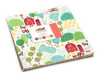 "Moda Farm Fun Layer Cake, 10"" Precut Fabric Quilting Squares  20530LC"