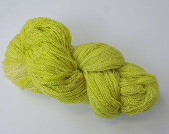 Home Grown Kid Mohair and Merino 2 ply Chartreuse 15-12-3