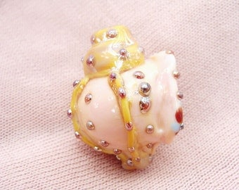 Blown Pink Sea Shell Bead