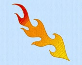 Flames gradient ombre machine embroidery file
