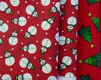 Christmas 9 X 21 Rectangles, 4 Pieces.