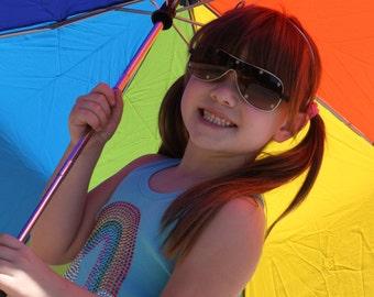 RAINBOW short sleeve rhinestud tee - for kids - by Daisy Creek Designs
