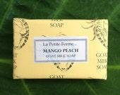Mango Peach, Mango Tangerine or Peach Tangerine goat milk soap, gift for her, gift for him, shower soap, gift for teacher, stockin stuffer