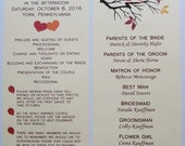 RESERVED FOR Corinne - Wedding Programs - Rustic Love Birds - Double Sided Cards - Ceremony - Nuptials - Fall Colors (set of 125)